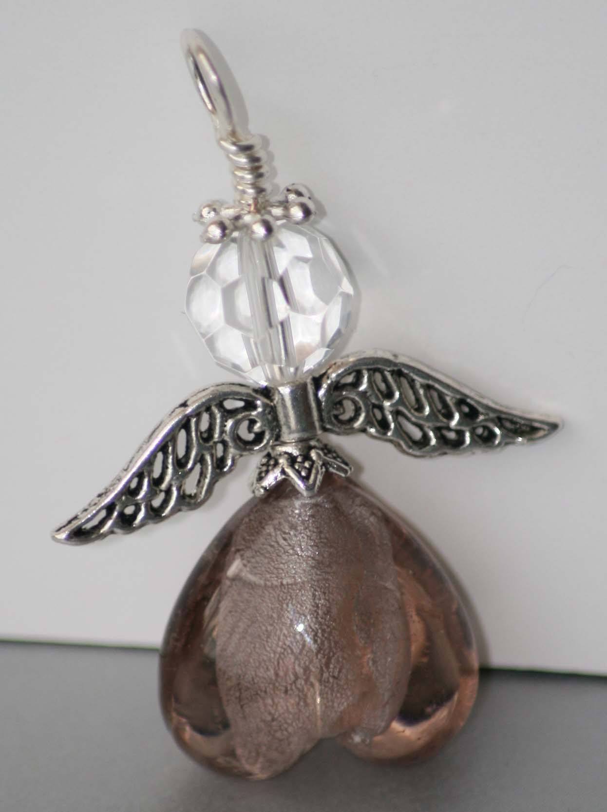 Pink Angel Pendant Small