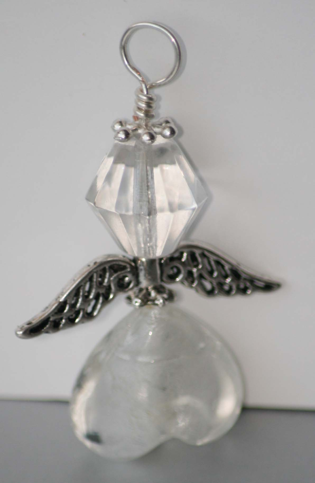 Silver Angel Pendant Small